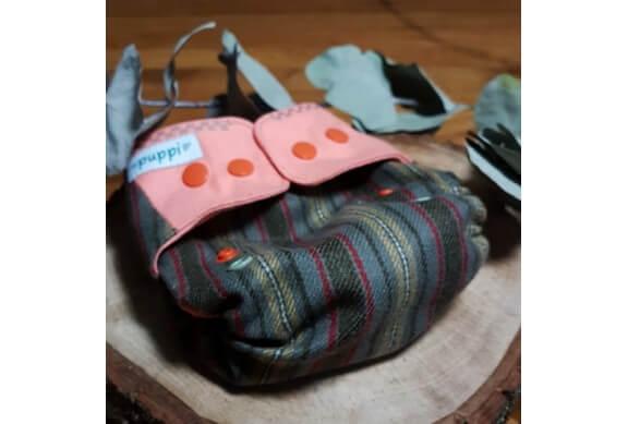 Pielucha otulacz wełniany, NB, Pink&Stripes, Puppi