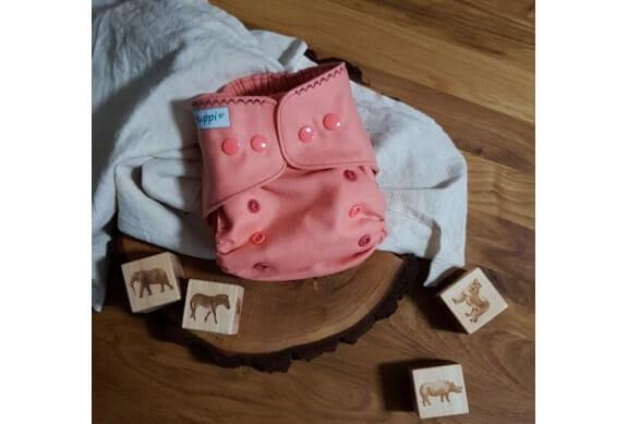 Pielucha otulacz wełniany One Size, Coral Pink, Puppi