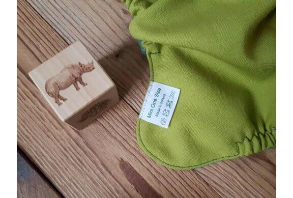 "Otulacz wełniany ""Green Herringbone"" - Mini OS, Rzep, Puppi"