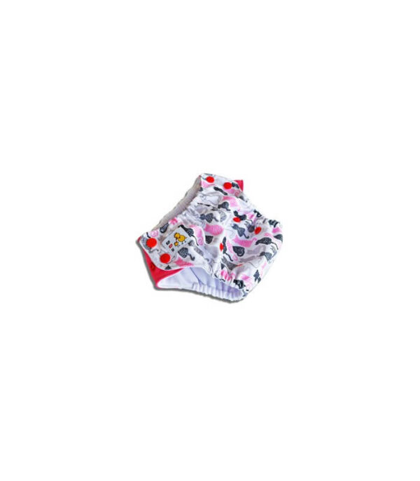 Kąpieluszki PUL/Coolmax - kotki różowe i szare, Kokosi