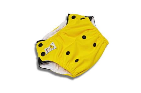 Kąpieluszka PUL/Coolmax - żółto - czarna, Kokosi