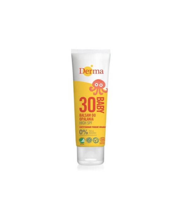 Mineralny filtr UV SPF 30, balsam do opalania dla dzieci, naturalny, EcoCert, 75 ml, Derma Sun