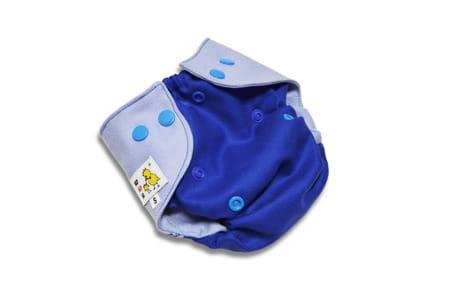 Pielucha otulacz wełniany (100%) S - jasny niebieski na ciemnym, Kokosi