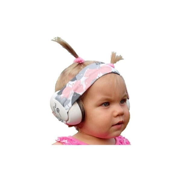 Słuchawki wygłuszające dla niemowląt EciPeci - Motylki Róż