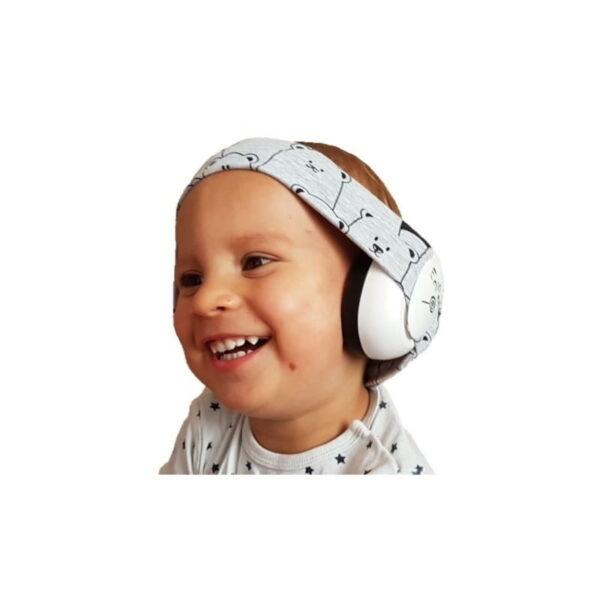 Słuchawki wygłuszające dla niemowląt EciPeci - Panda Szary