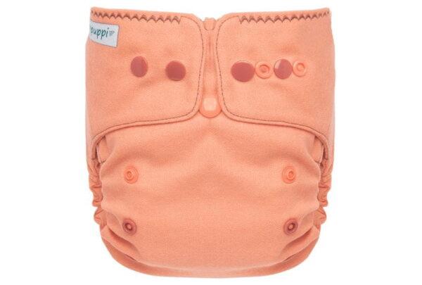 Pielucha otulacz wełniany Coral Pink V3 - Mini OS SIO, Rzep, Puppi