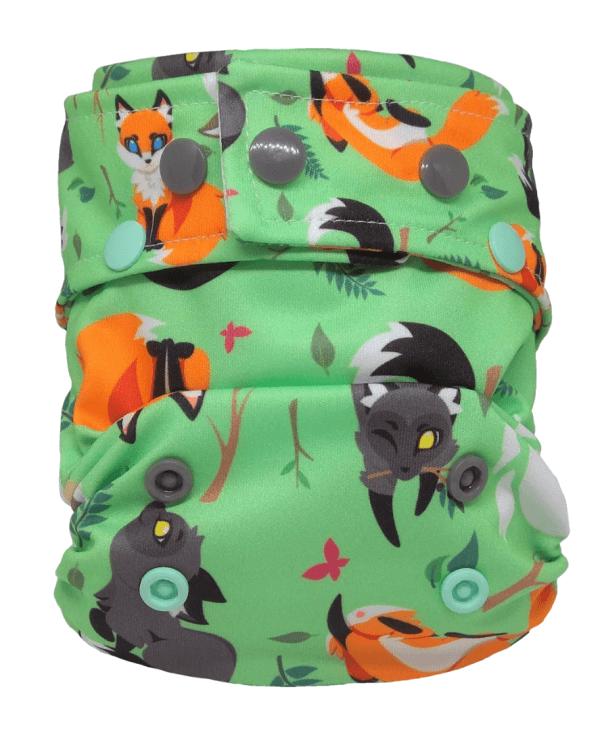 Pieluszka kieszonka, One Size, Liski urwiski, Little Birds (Katal)