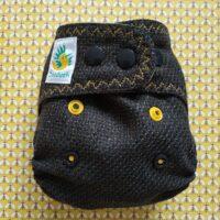 Pielucha otulacz wełniany z haftem Pszczółki, NB, Doodush