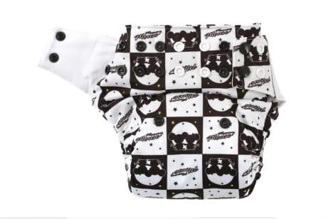 Pieluszka kieszonka One Size, bawełna organiczna, Luna, Mommy Mouse