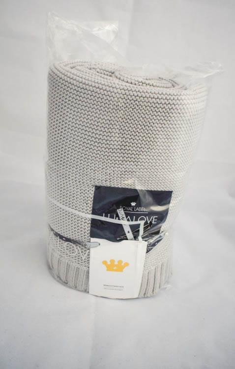 Bambusowy koc tkany 80x100 cm - Glamour gray, Lullalove