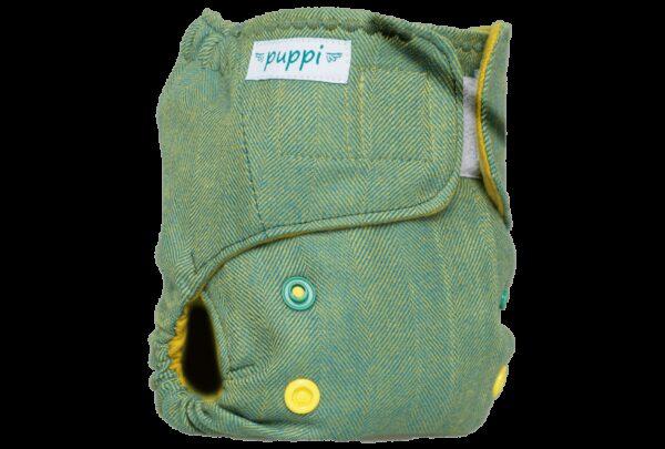 Otulacz wełniany, Green Herringbone, NB, Rzep, Puppi