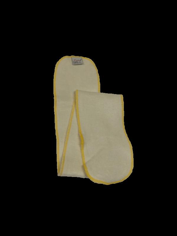 Wkład bambusowy HEAVY, długi (11x66cm) YELLOW 3 warstwy, Little Birds (Katal)