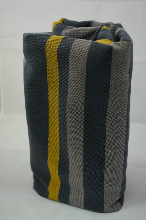Chusta do noszenia dzieci, tkana splotem skośno-krzyżowym (100% bawełna) - Smoky - miód - rozmiar S, Lenny Lamb