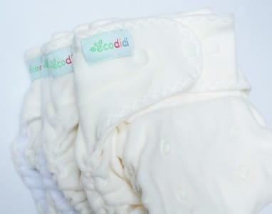 Pielucha formowana z kieszonką welur bawełniany, One Size, mikropolar, Ecodidi