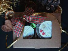 Peeling do ciała + bogate masło do ciała + pakowanie prezentowe z okienkiem
