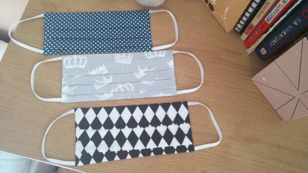 maseczki dostępne w sklepie Chmurka Biała nowe wzory