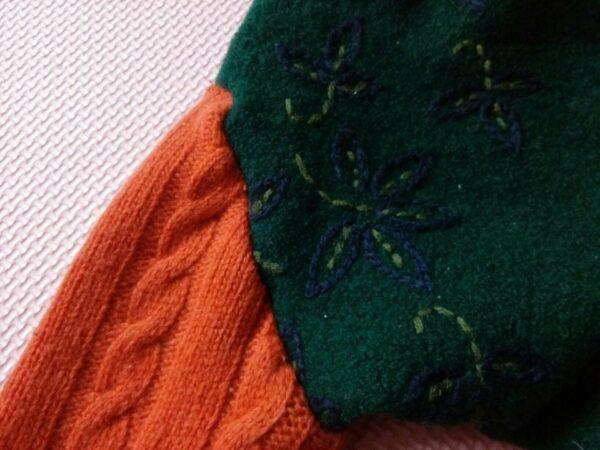 Motyw przewodni haft na longach wełnianych