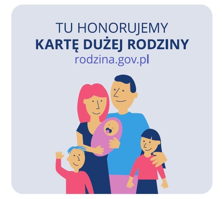 Karta Dużej Rodziny Logo w sklepie Chmurka Biała