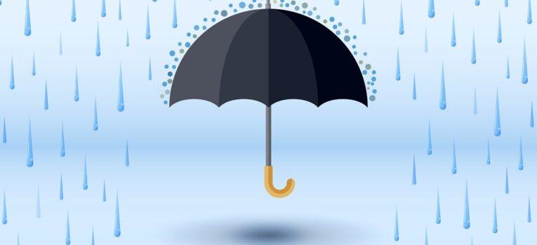 Parasol i deszcz